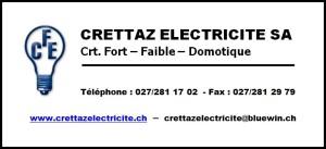 Logo Crettaz Electricite SA - Quart A5